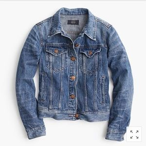 Jcrew Classic Denim Jean Jacket Button Front